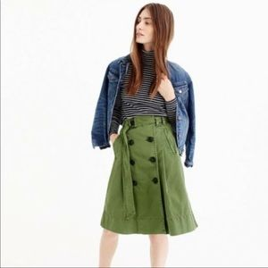 J.Crew trench skirt